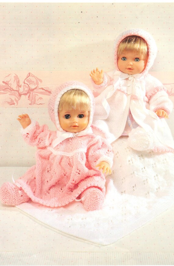 92b04be1c Baby Dolls Knitting Patterns Dress Hat Shoes Baby Coat
