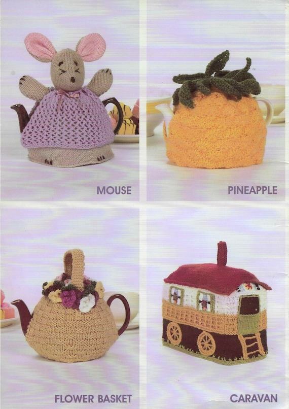 Swiss Chalet Tea Cosy Knitting Pattern Photocopy To Make House Teapot Cover Cozy