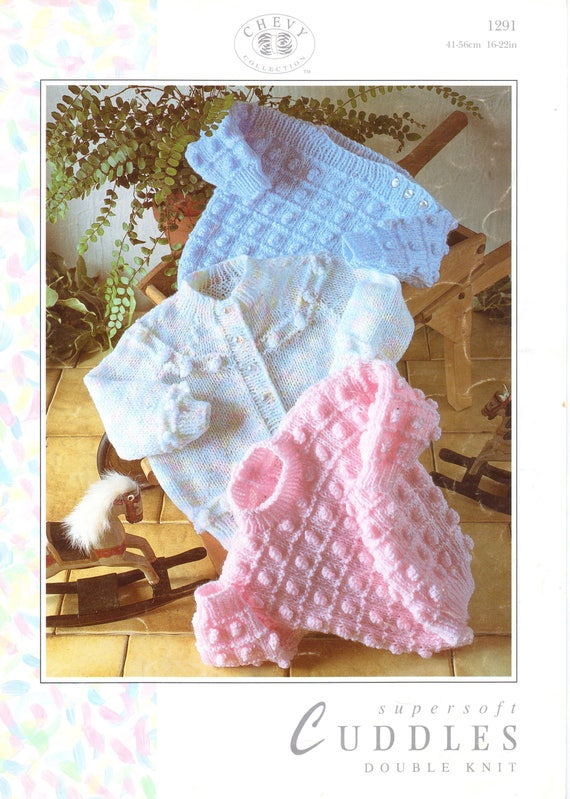 Si teddy Baby chunkyjacket hat and blanket 16-22inch knitting pattern