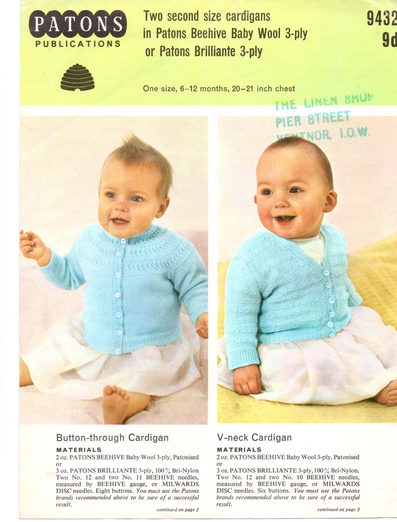 8531cb1671bf Two Baby Cardigan Knitting Pattern Baby Jacket Girls V Neck