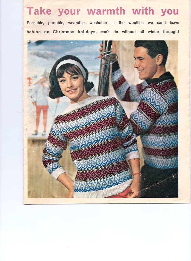 2fa953f75 His Hers Knitting Pattern Ladies Mens Icelandic Nordic