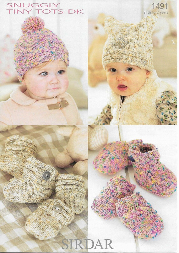 MITTS BOOTIES DK Knitting Pattern -124 BLANKET BABY 6-18 mths JACKET HAT