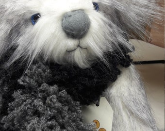 Ooak Artist teddy bear- Frost by Belly Button Bears