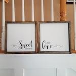 Sweet Dreams Little Love| Farmhouse Sign | Farmhouse Decor | Rustic Decor | Rustic Sign | Rustic | Wood Sign | Framed Sign | Farm style |