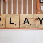 PLAY Scrabble Tiles | Large Tiles | Playroom Decor | Kids Room Decor | Scrabble Tiles | Kids | Playroom |