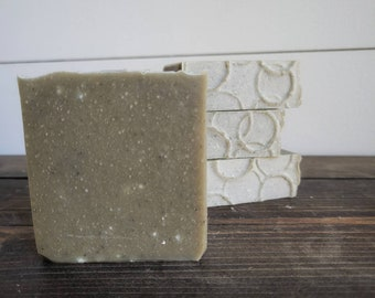 Naked Goat   Goat Milk Soap   Goat Milk Bar   Sensitive Skin   Soap Top   Green Sea Clay   Artisan Soap   Natural Bar   No Scent Soap