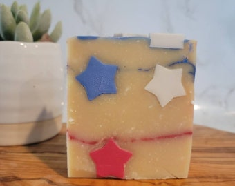 Land I Love   Goat Milk Soap   Goat Milk Bar   Sensitive Skin   Soap Top   Summer Soap   Patriotic Soap   Artisan Soap
