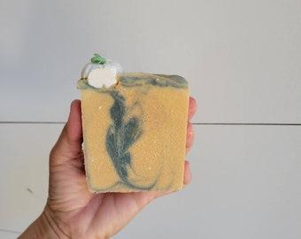 White Pumpkin Amber Goat Milk Soap   Natural Soap   Goat Milk Soap   Cold Process Soap   Artisan Soap   Pumpkin Soap   Fall Soap