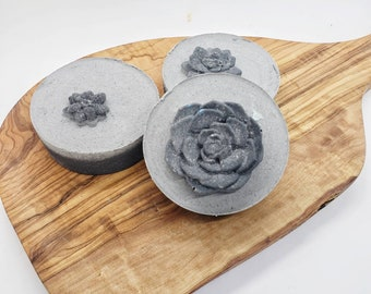 Activated Charcoal Salt  Bar   Cold Process Soap   Artisan Soap   Salt Soap   Sensitive Skin Soap   Salt Bar   Facial Soap   Facial Bar