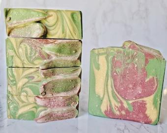 Cactus Flower   Goat Milk Soap   Goat Milk Bar   Sensitive Skin   Soap Top   Sweet Scent   Artisan Soap   Handmade Soap