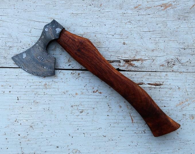 Featured listing image: Viking Hatchet; Damascus Steel