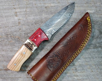 The Duke Skinner; OAR handle; Damascus Steel