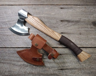 Berserker Ax; Ash Handle, Polished Steel Head