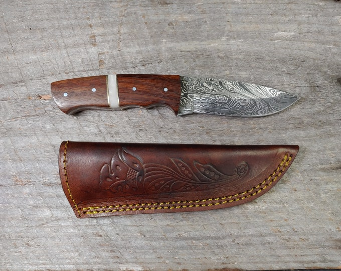 The Duke Skinner; RWR handle; Damascus Steel