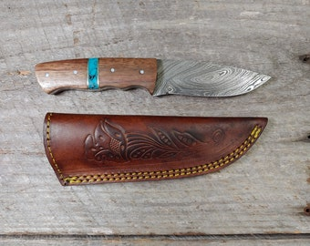 The Duke Skinner; WTW handle; Damascus Steel