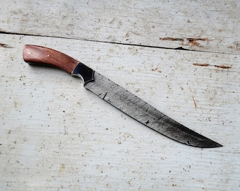 "10"" Rosewood Carving Knife; Damascus Steel"