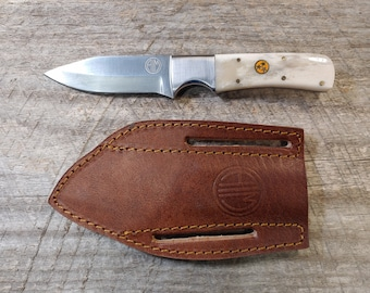 Tennessee Orange Tri-Star & Bone Skinner Knife