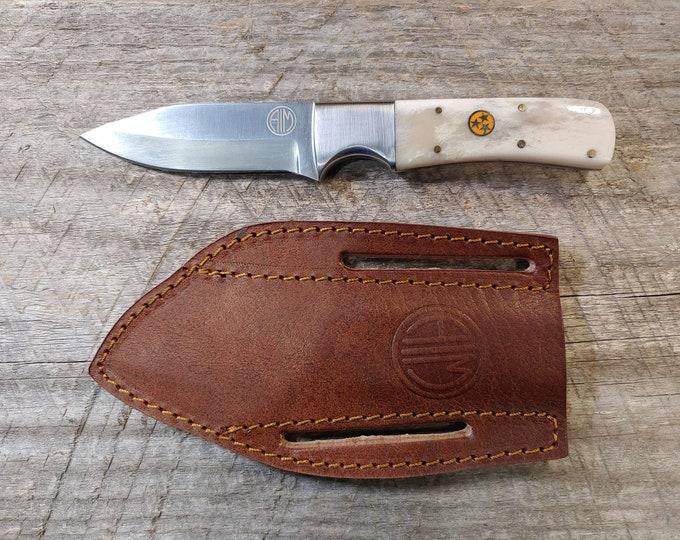 Tennessee Orange Tri-Star & Bone Skinner Knife
