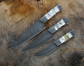 Pearl Handle Chef Knife Set