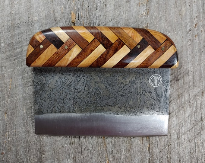 Bench Knife; Dragon Skin Steel; 2x2 Mixed Wood Handle