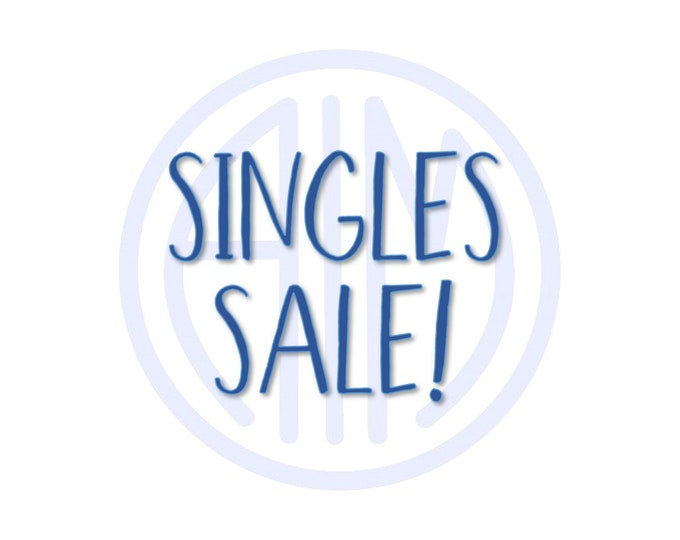 Singles Sale!