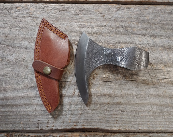 Rough Cast Viking Ax Blank with Sheath