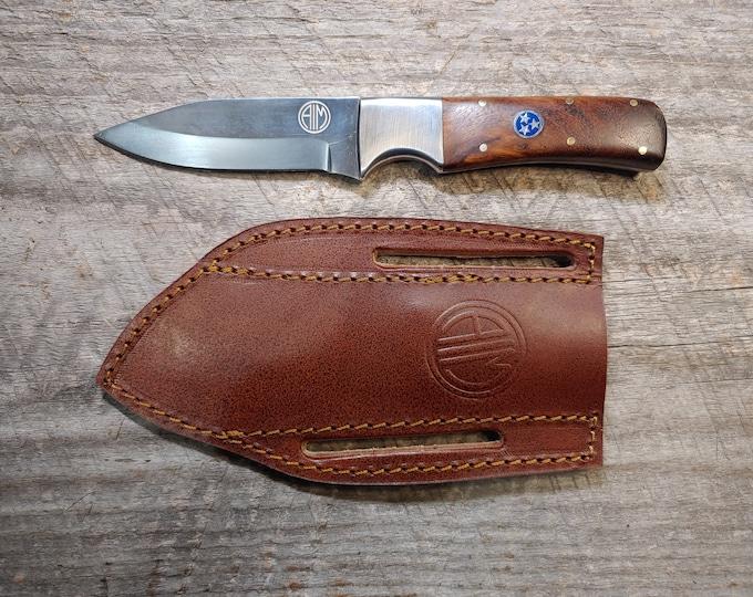 Tennessee Tri-Star & Rosewood Skinner Knife
