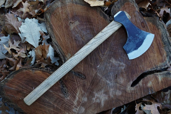 Bushman Ax; Rough Cast Steel, Ash Handle