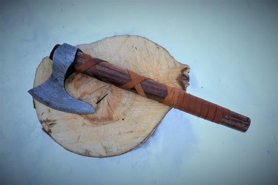 Odin Viking Ax; Damascus Blade
