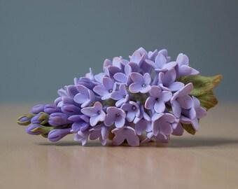 hair accessories blossom headpiece syringa wedding clip purple syringa bridesmaid flower hair jewelry bridal lilac jewelry