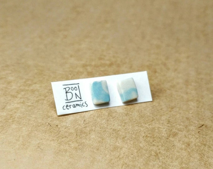 Ceramic Stud Earrings