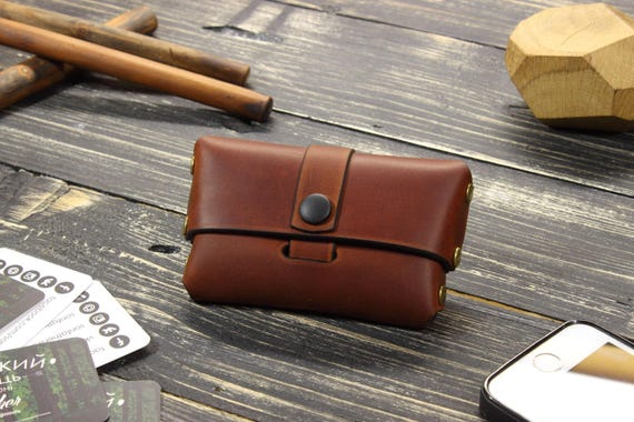 Custom Leather Card Case Holder Gifts For Boyfriend