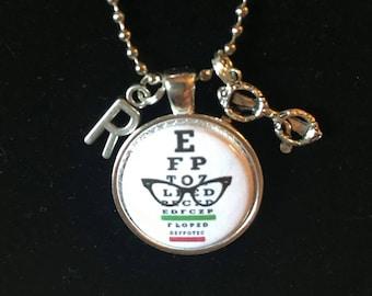 Eye Chart Necklace