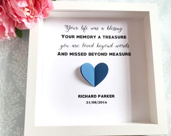 Remembrance Gift, Memorial Photo Frame, Miscarriage Gift, Personalised Scrabble Art, Condolence Gift, Bereavement Gift, Funeral Gift
