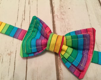 Rainbow Baby Adjustable Bow tie