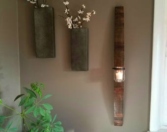Wood candle holder/sconce