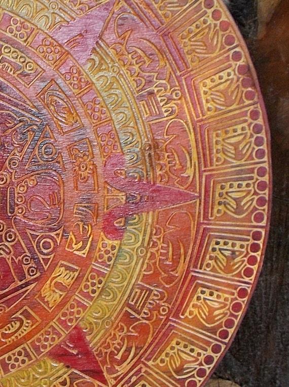 Aztec Calendar Mayan Calendar Wood Carving 23 inch | Etsy