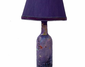 Purple Acrylic Skin Accent Lamp, surreal night time seascape, dream-like, dreamy landscape, Free Shipping