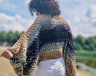Crochet Pattern//Mystery Poncho