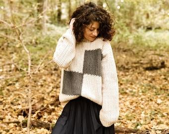 Crochet Pattern//Bishop Pullover