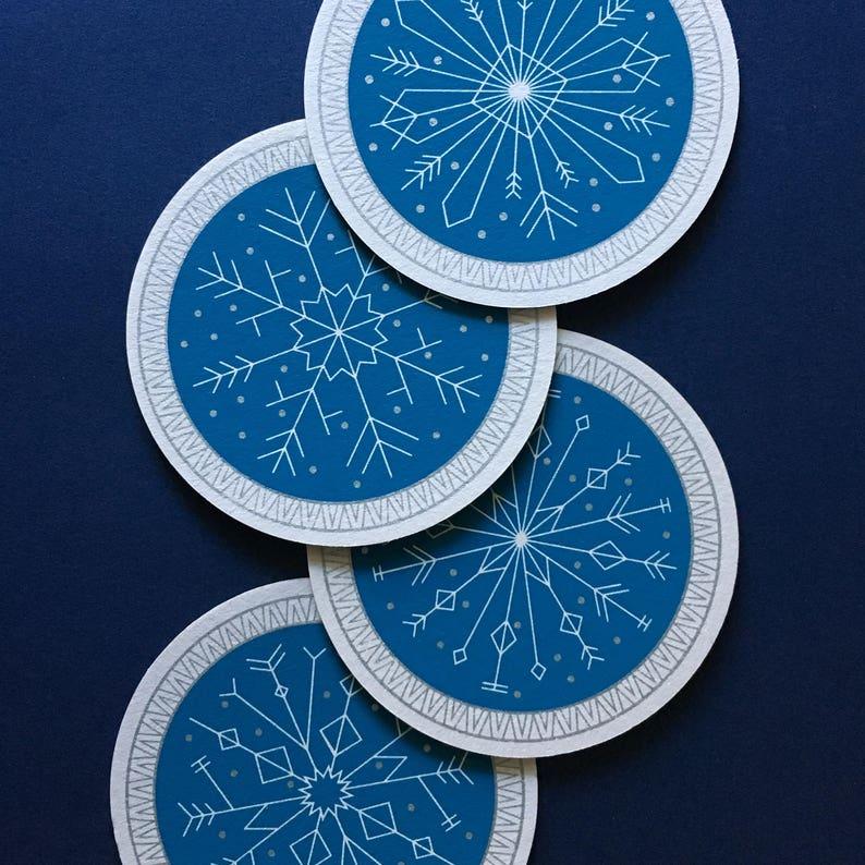 Geometric Snowflake Coaster Set image 0