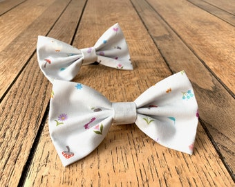 Handmade Dog Bow Tie in Easter Parade Fabric