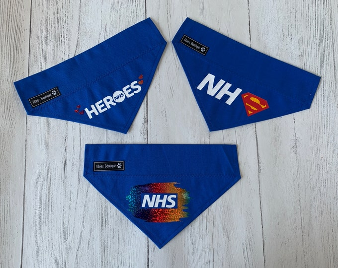 Featured listing image: NHS Heroes Charity Dog Bandanas