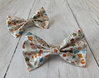 Woodland Motifs Dog Bow Tie