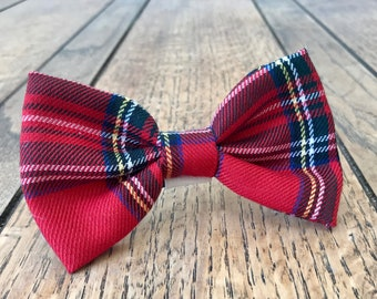 Handmade Dog Bow Ties in Albies Signature Red Tartan