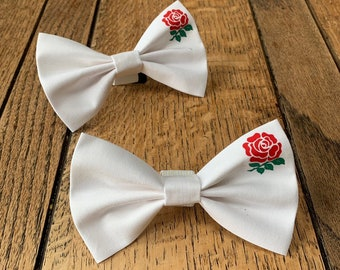 England Rugby Dog Bow Tie