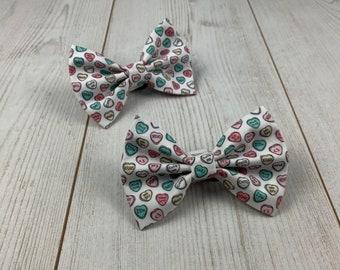 Love Hearts Dog Bow Tie