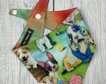 Its a dogs life Reversible Dog Bandana with a popper fastening