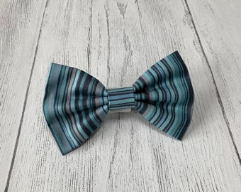 Blue stripe Dog Bow Tie