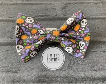 Limited Edition Halloween motifs Dog Bow Tie